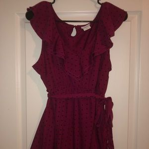 Oh Baby size XL plum and black blouse